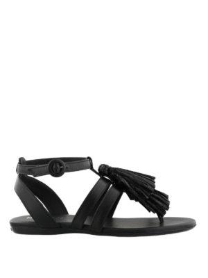 HOGAN: sandali - Sandali Valencia in pelle nera