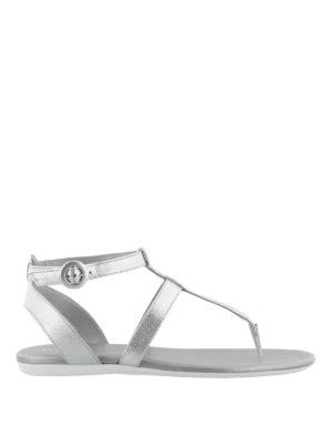 HOGAN: sandals - Valencia silver strappy sandals