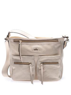 HOGAN: borse a spalla - Borsa a spalla in pelle beige
