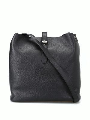 HOGAN: borse a spalla - Tracolla media Hobo Iconic nera