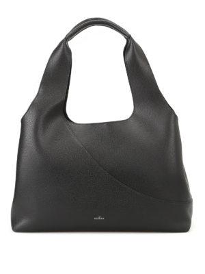 Hogan: shoulder bags - East West grainy leather shopper