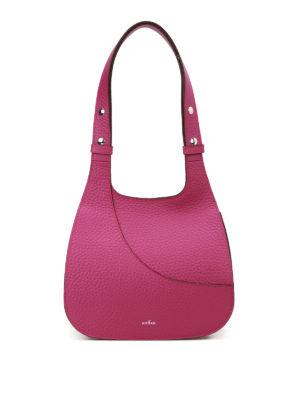 Hogan: shoulder bags - Hammered purple leather hobo bag