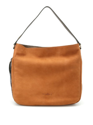 Hogan: shoulder bags - New Hobo grainy leather bag