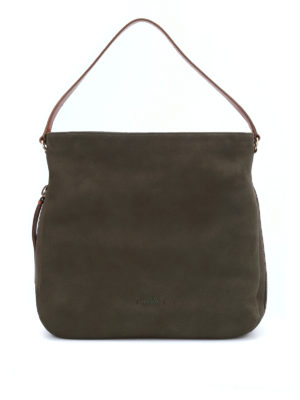 Hogan: shoulder bags - New Hobo nubuk bag