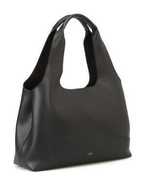 Hogan: shoulder bags online - East West grainy leather shopper