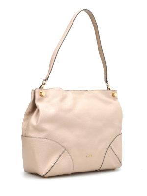 Hogan: shoulder bags online - GRAINY LEATHER HOBO BAG