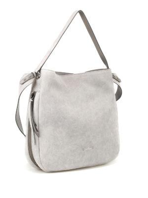 Hogan: shoulder bags online - Grey shiny suede hobo bag