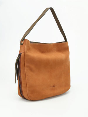 Hogan: shoulder bags online - New Hobo grainy leather bag