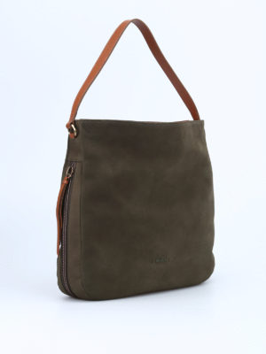 Hogan: shoulder bags online - New Hobo nubuk bag