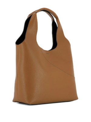 Hogan: shoulder bags online - Smooth brown leather shoulder bag