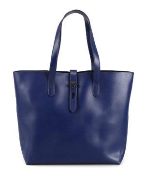 HOGAN  shopper - Shopper in pelle blu 7c7af2b8d8f
