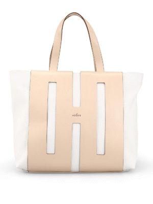 14c1c505ef9e0 HOGAN  shopper - Shopper Bi-Bag in canvas e pelle