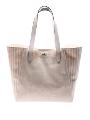 Hogan: totes bags - Canvas logo detail shopping bag