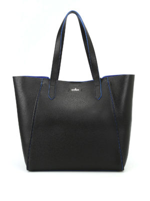 Hogan: totes bags - Hammered leather shopping bag