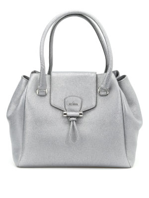 Hogan: totes bags - Hammered leather tote