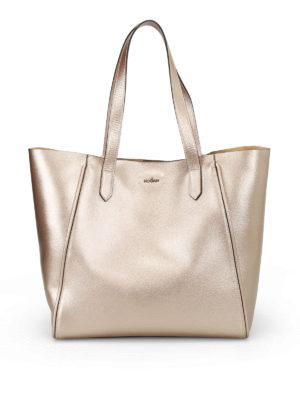 Hogan: totes bags - Hammered metallic leather tote