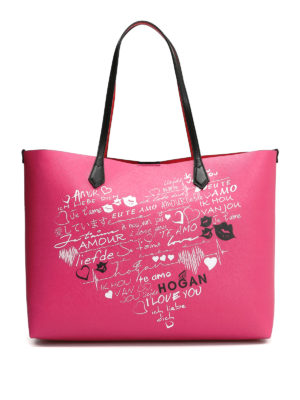 "Hogan: totes bags - ""I love you""  tote bag"