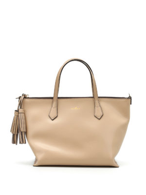 Hogan: totes bags - Leather top zip small tote