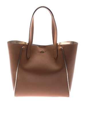 Hogan: totes bags - Light brown leather shopping bag