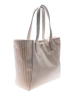 Hogan: totes bags online - Canvas logo detail shopping bag