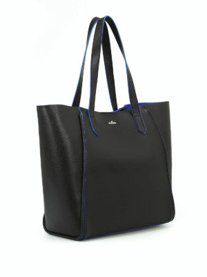Hogan: totes bags online - Hammered leather shopping bag