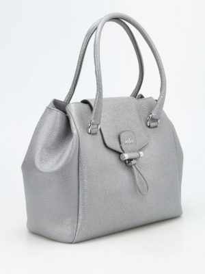Hogan: totes bags online - Hammered leather tote