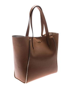 Hogan: totes bags online - Light brown leather shopping bag