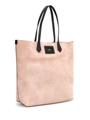 Hogan: totes bags online - SUEDE SHOPPING BAG WITH TAG