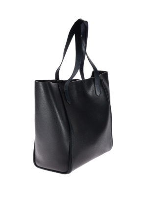 Hogan: totes bags online - Two-tone grainy leather shopper