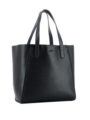 Hogan: totes bags online - Two-tone leather shopper