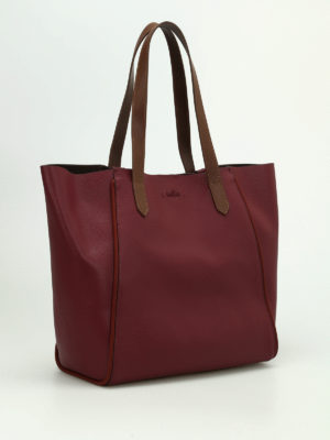 Hogan: totes bags online - Two-tone leather shopping bag