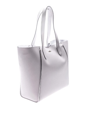 Hogan: totes bags online - White leather shopping bag