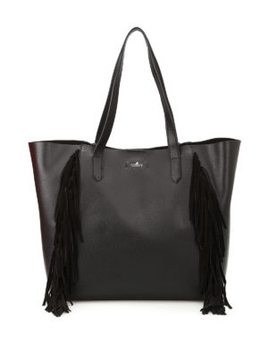 Hogan: totes bags - Suede fringed leather tote