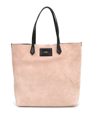 Hogan: totes bags - SUEDE SHOPPING BAG WITH TAG