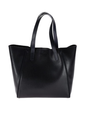 Hogan: totes bags - Two-tone grainy leather shopper