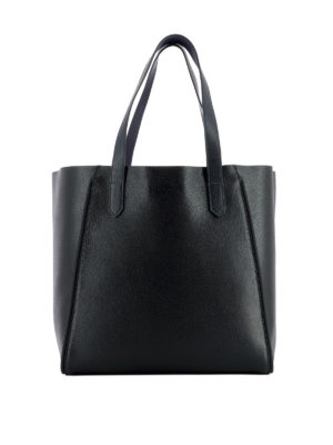 Hogan: totes bags - Two-tone leather shopper