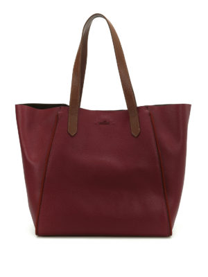 Hogan: totes bags - Two-tone leather shopping bag