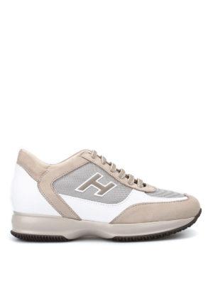 Hogan: trainers - Beige New Interactive H Flock