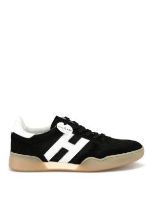 HOGAN  sneakers - Sneaker sportive nere in nabuk e tecnotessuto 329474afa01