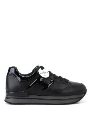 HOGAN: sneakers - Sneaker H222 nere in pelle e vernice