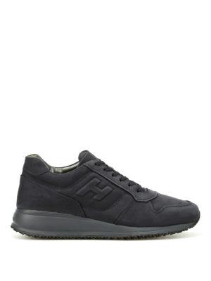 Hogan: trainers - Blue Interactive N20 nubuck sneaker