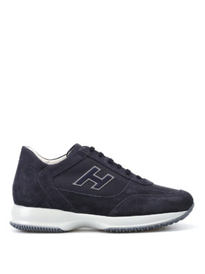 Hogan: trainers - Blue New Interactive H Flock