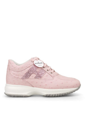 Hogan: trainers - Crystal H pink leather Interactive