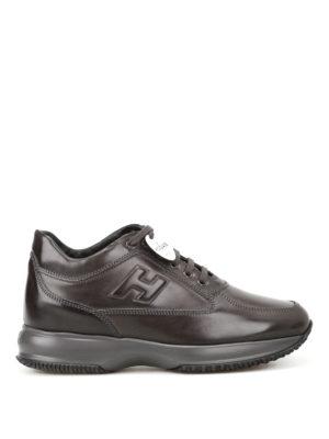 Hogan: trainers - Dark grey leather Interactive