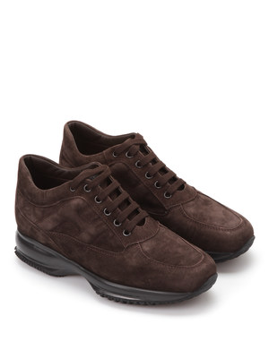 Hogan: trainers - Embossed H suede trainers