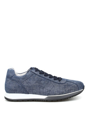 Hogan: trainers - Fabric effect leather sneakers
