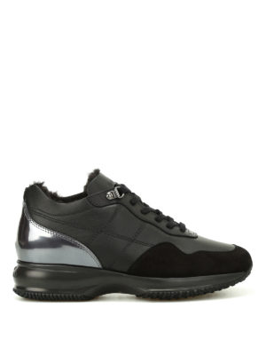 Hogan: trainers - Faux fur lined Interactive sneakers