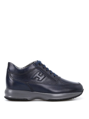 Hogan: trainers - Glossy leather Summer Interactive