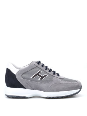 Hogan: trainers - Grey New Interactive H Flock