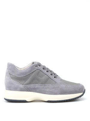 Hogan: trainers - Grey suede and fabric Interactive